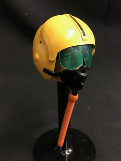 ELITE BRIGADE - Helmet: Yellow Pilot with Oxygen Mask & Hose - to fit Action Man Gi Joe
